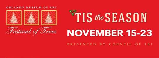 5. Festival of TreesWhen:Sat.,All day (Event runs through the 23rd)Where:Orlando Museum of Art, 2416 Mills Ave., Orlando, FL 32803Cost:$10 for adults, $6 for children ages 3-11The Festival of Trees will showcase displays of designer decorated trees, wreaths, gingerbread creations and stunning holiday vignettes which are all available for purchase. Visitors will enjoy the gift boutique, the Toyland Town activity area, Gingerbread Village, and a Festival Café, complete with live daily entertainment.