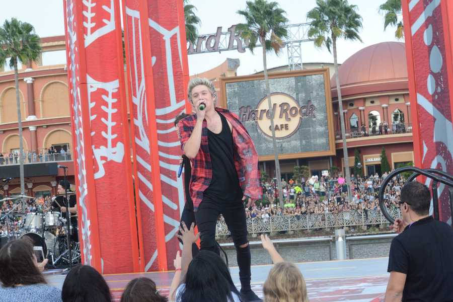 "One Direction took the stage at Universal Orlando Resort's CityWalk on Monday to promote their new album, ""Four."" See photos from Orlando My Way.>>Download the Orlando My Way app for iOS 