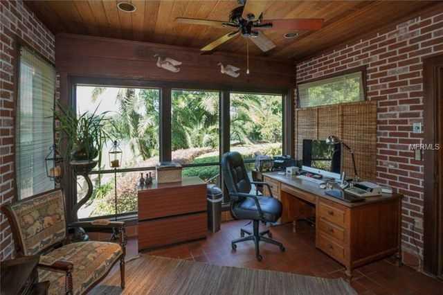 Brick office.