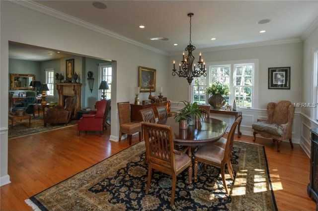 Generous space in the dining room.