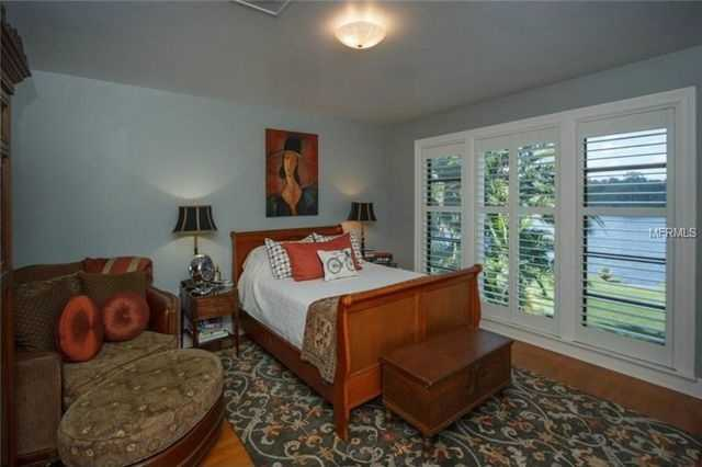 Each of the four bedrooms boasts huge, walk-in closets.