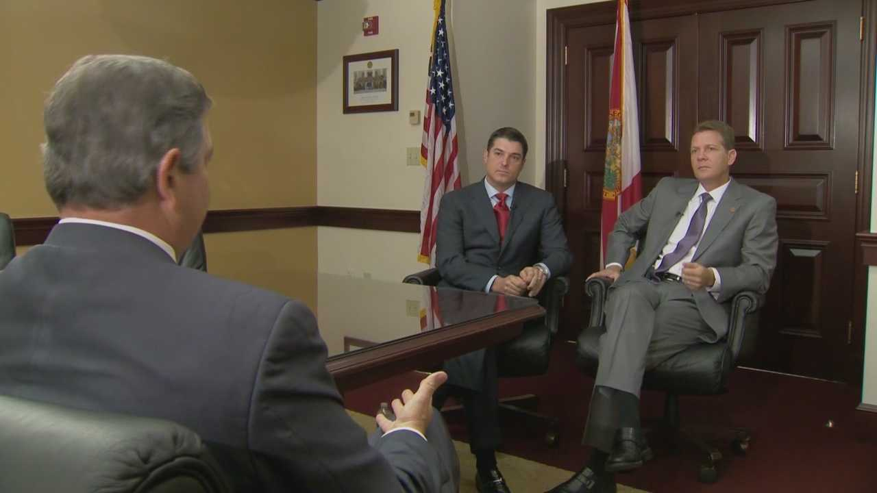 Newly sworn-in Florida lawmakers, Senate president Andy Gardiner of Orlando and Steve Crisafulli from Brevard County, discusses the aftereffects of the failure of Amendment 2 in Florida.
