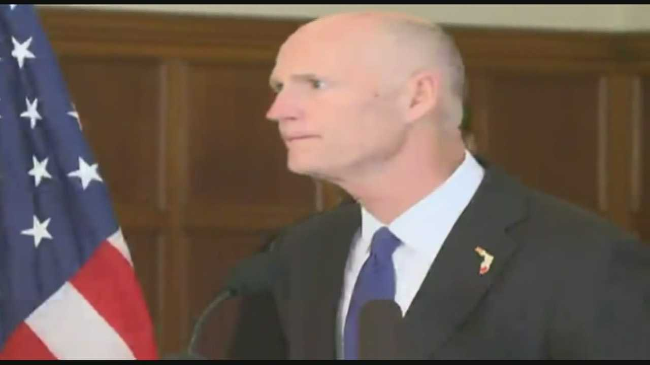 Gov. Rick Scott and Florida State President John Thrasher talked about a shooting at the school Thursday.