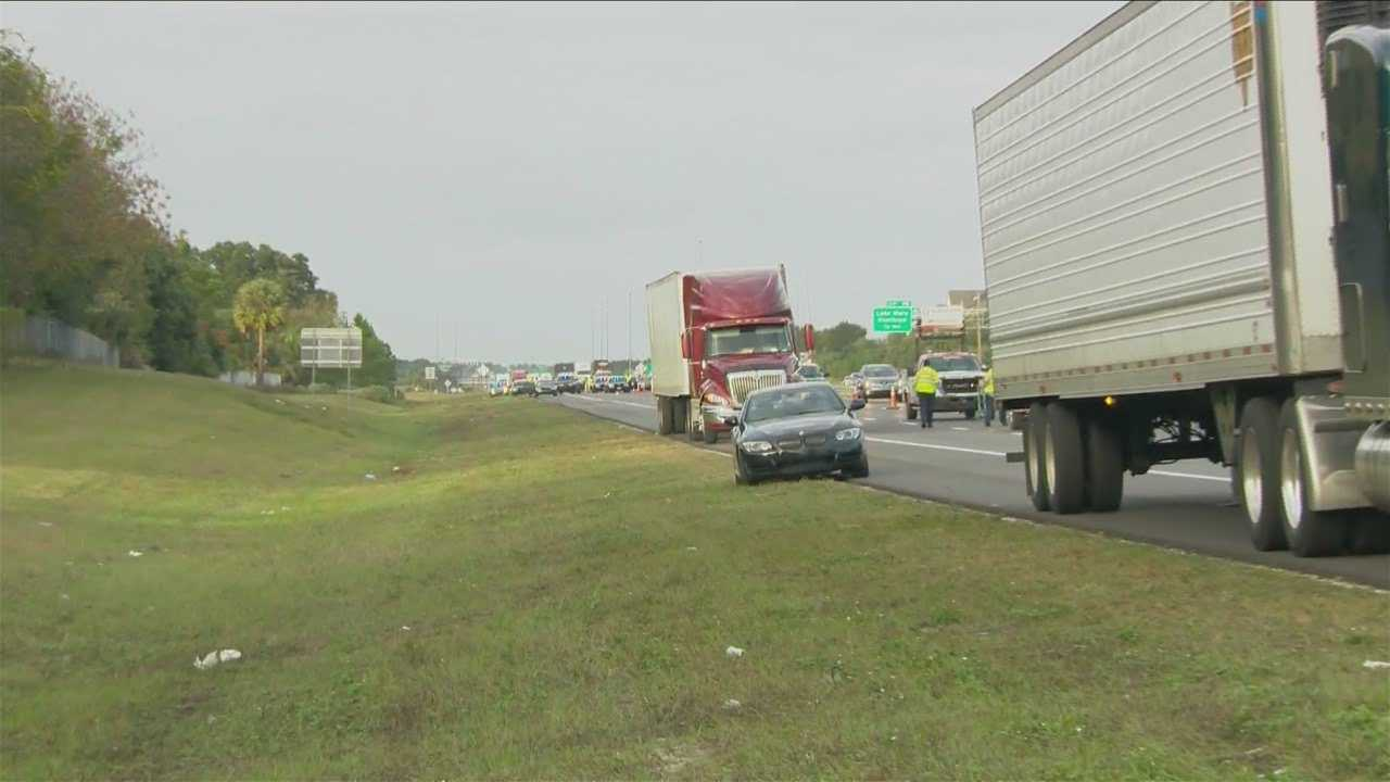 A man got out of his car and walked into traffic on Interstate 4 on Sunday.