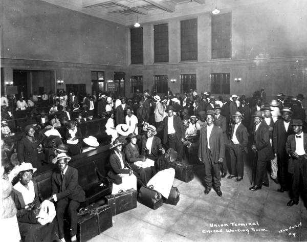 Segregated waiting room at railroad depot in Jacksonville in 1921.