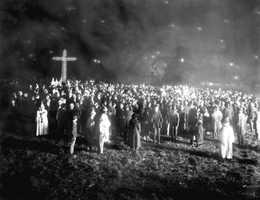 Ku Klux Klan rally held in Tampa in 1923.