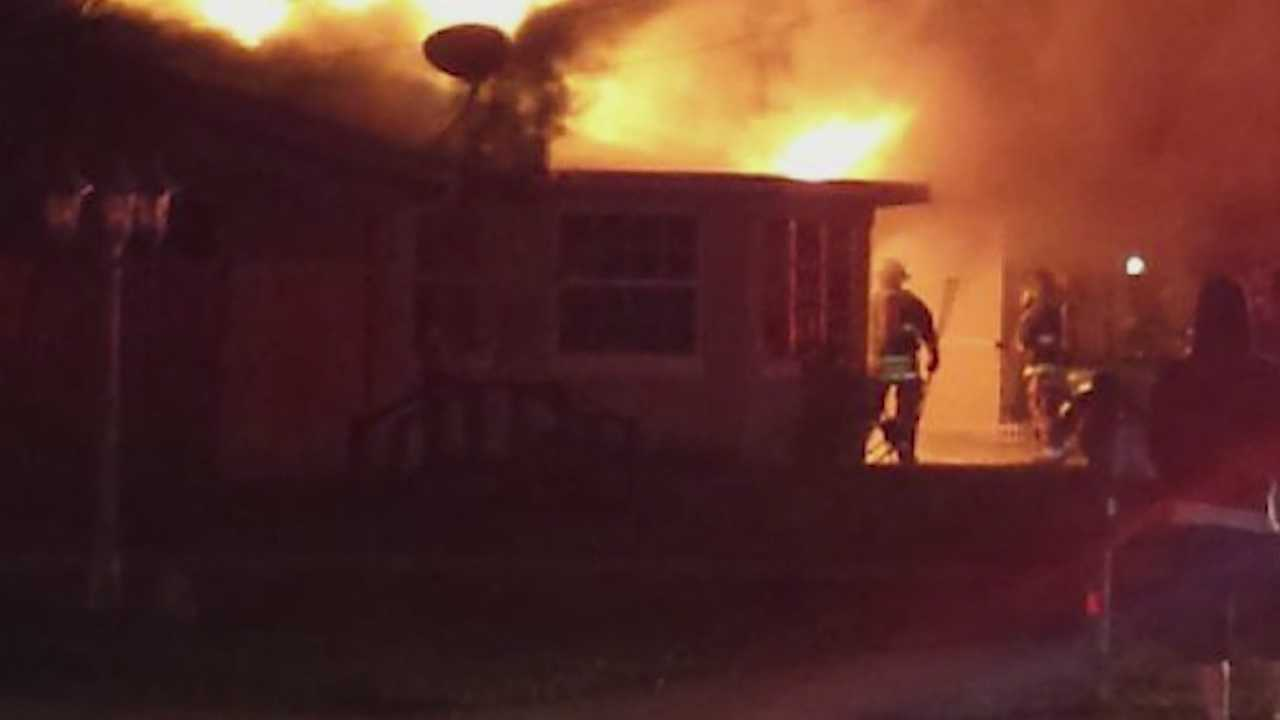 A resident and a dog escaped a burning home in South Daytona on Thanksgiving morning, according to the Volusia County Sheriff's Office.