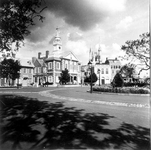 Buildings at the Magic Kingdom in 1971