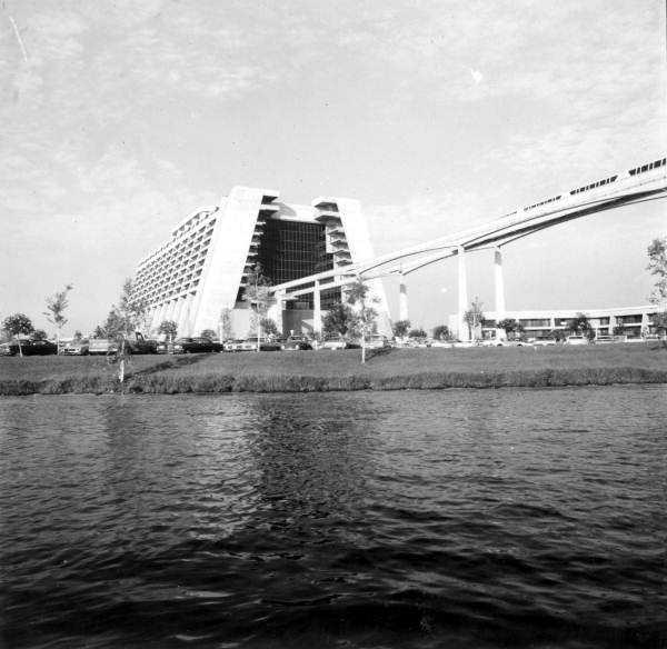 Contemporary hotel at the Magic Kingdom in 1971