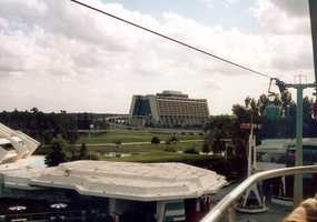 View of the Contemporary Resort from the Skyway