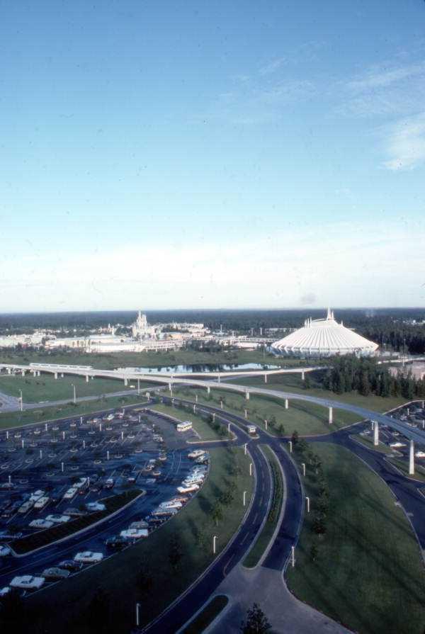 The Magic Kingdom parking lot in 1975