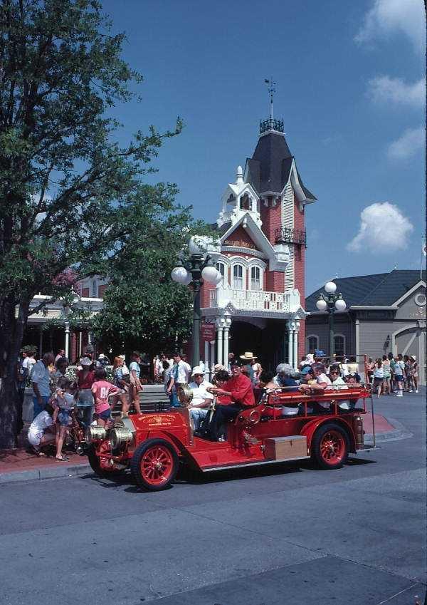 Main Street Fire Dept. passenger vehicle in 1979