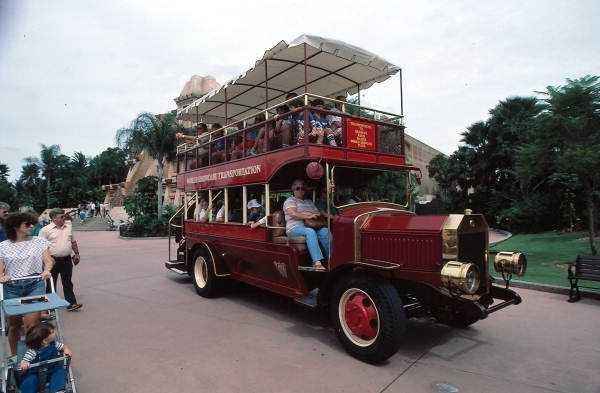 World Showcase Transportation tour bus in 1979