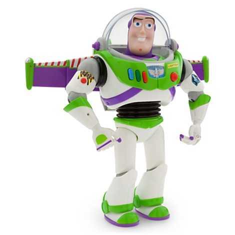 From Toy Story - Buzz Lightyear talking figure.