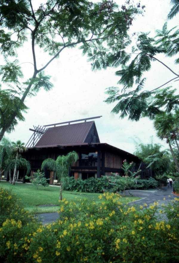 View showing Disney's Polynesian Resort hotel in 1975
