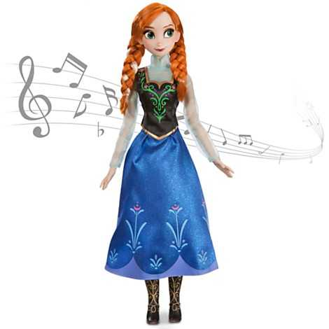 From Frozen - Anna singing doll.