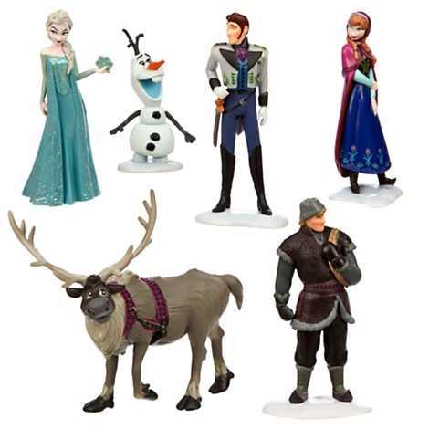 Frozen figure play set.