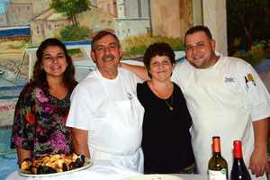 Stefano La Commare's family - left to right&#x3B; Antoniella Paradiso (daughter), Stefano La Commare, Marie La Commare (wife), Leonardo La Commare (son)