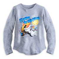Olaf long-sleeve thermal tee for girls - $16.95