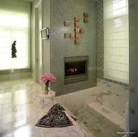 Yes, that's a fireplace along the spa tub.
