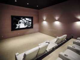 Spacious home theater.