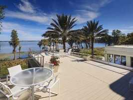 Tranquil view from the 10,155 sq.ft. property.