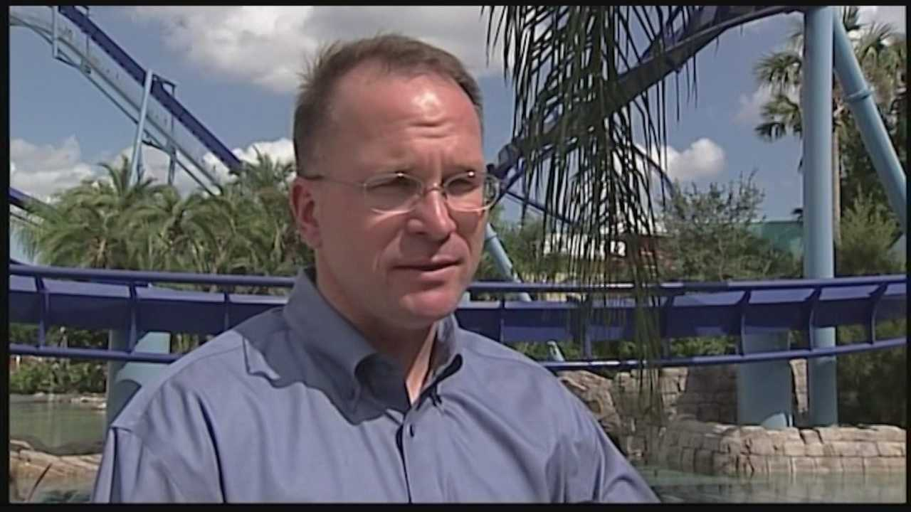 SeaWorld says that its CEO is stepping down as head of the company and named its chairman as interim leader.