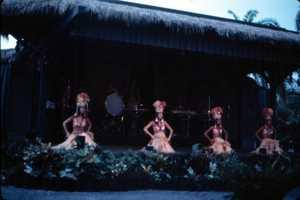 Dancers perform at Disney's Polynesian Resort in Orlando in 1981.