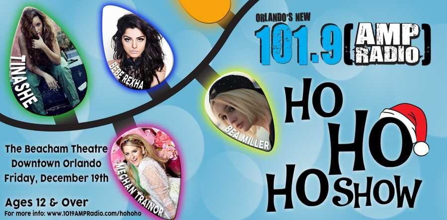 1. The Ho Ho HoShow: Tinashe and  Meghan Trainor When: Fri., 6 p.m.Where: The Beacham Theatre, 46 N. Orange Ave., Orlando, FL 32801Cost: $25 - $45, get tickets here.