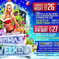 2. The Beacham Christmas WeekendWhen: Sat., 10 p.m.Where: The Beacham, 46 N. Orange Ave. Orlando, FL 32801 Cost: Free entry for men until 11 p.m., Free all night for womenHosted By: The Beat, DJ D-Strong, VDJ Richie Rich, & MC VivalakoHipHop, Top 40 Hits, & Club Remixes2-4-1 shots all night, $3.50 any drink until 11 p.m.