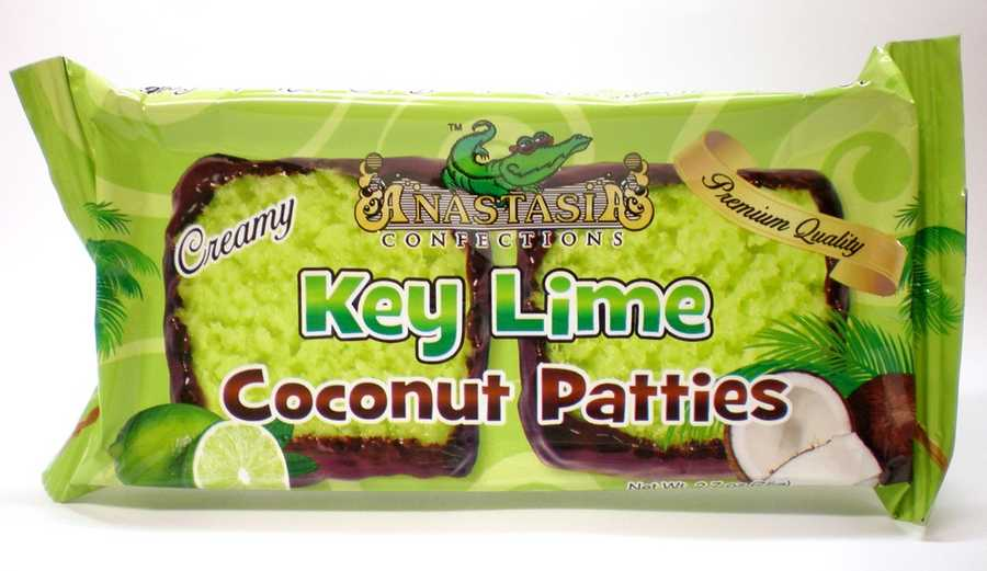 6. Coconut PattiesThis Florida candy was created by Anastasia Confections, Inc. The founder said that during his time working in a gift shop in Pompano Beach in the early 1980's, he saw visitors become frustrated as they were unable to find quality candy gifts and souvenirs. It was at that point that the founder decided to create a premium candy line specifically for Florida tourists. His now-famous Coconut Patties were first only sold through his tourist shop, but are now carried by retailers around the world. Anastasia's Confections is now based in Orlando. Best spot to get it: Anastasia Confections