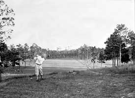 1930s - Golfer at the DeLand Country Club