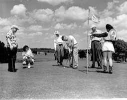 1950 - Golf at the Ocala Golf course