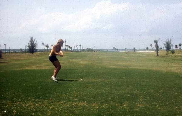 1974 - Woman golfing in Cocoa