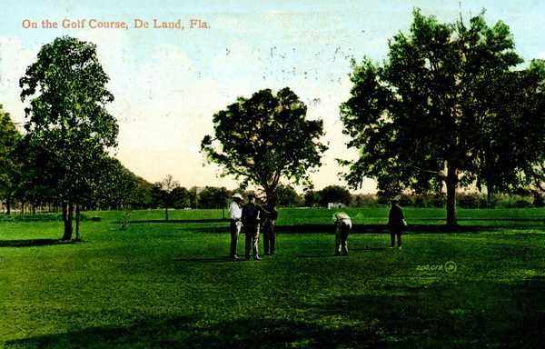 Early 1900s - On the golf course in DeLand