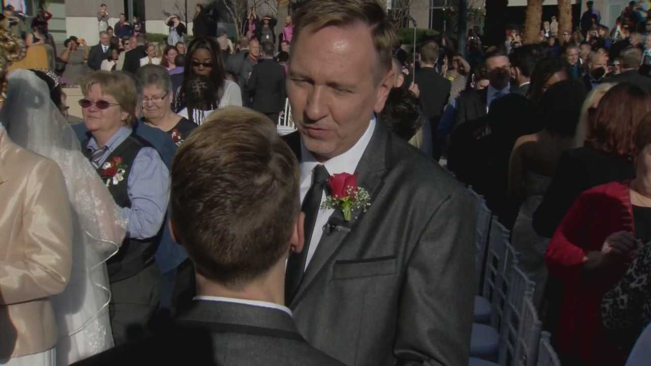 Hundreds of same-sex couples from Central Florida were legally married on Tuesday.
