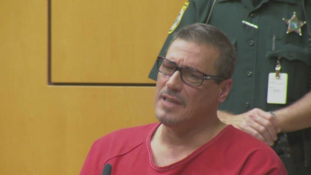 A Brevard County man convicted of strangling his wife to death insists he didn't do it but still got a lifetime prison sentence without parole Tuesday.