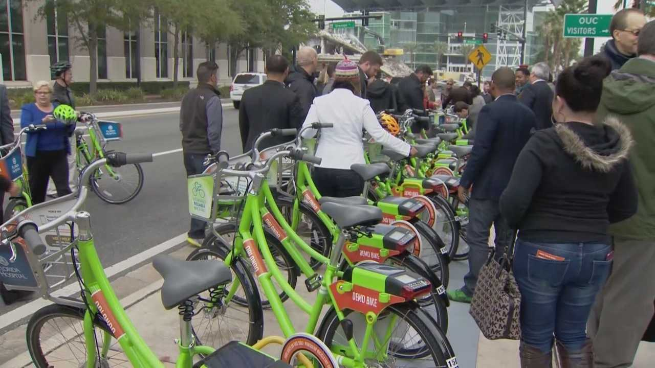 The Orlando Bike Share Program rolled out on Friday.
