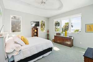 One of four bedrooms in the home. This one faces the ocean view and offers an excellent breeze.