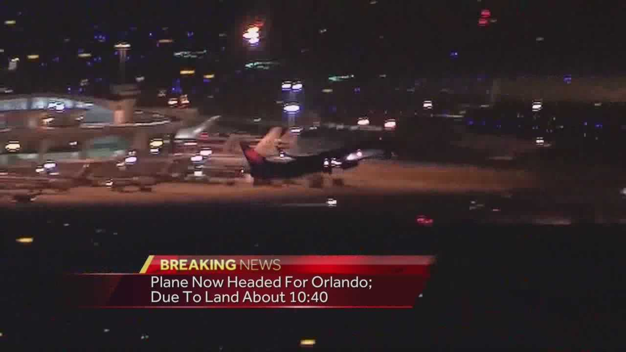 A Delta Flight headed from Los Angeles to Orlando was diverted to Dallas because of a bomb threat Sunday evening.