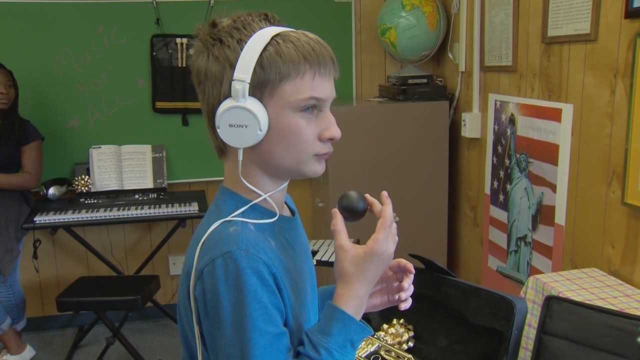 Sometimes music can be a school subject broadsided by budget issues. But on Tuesday, special needs students at New Smyrna Beach Middle School got $5,000 worth of brand new instruments.