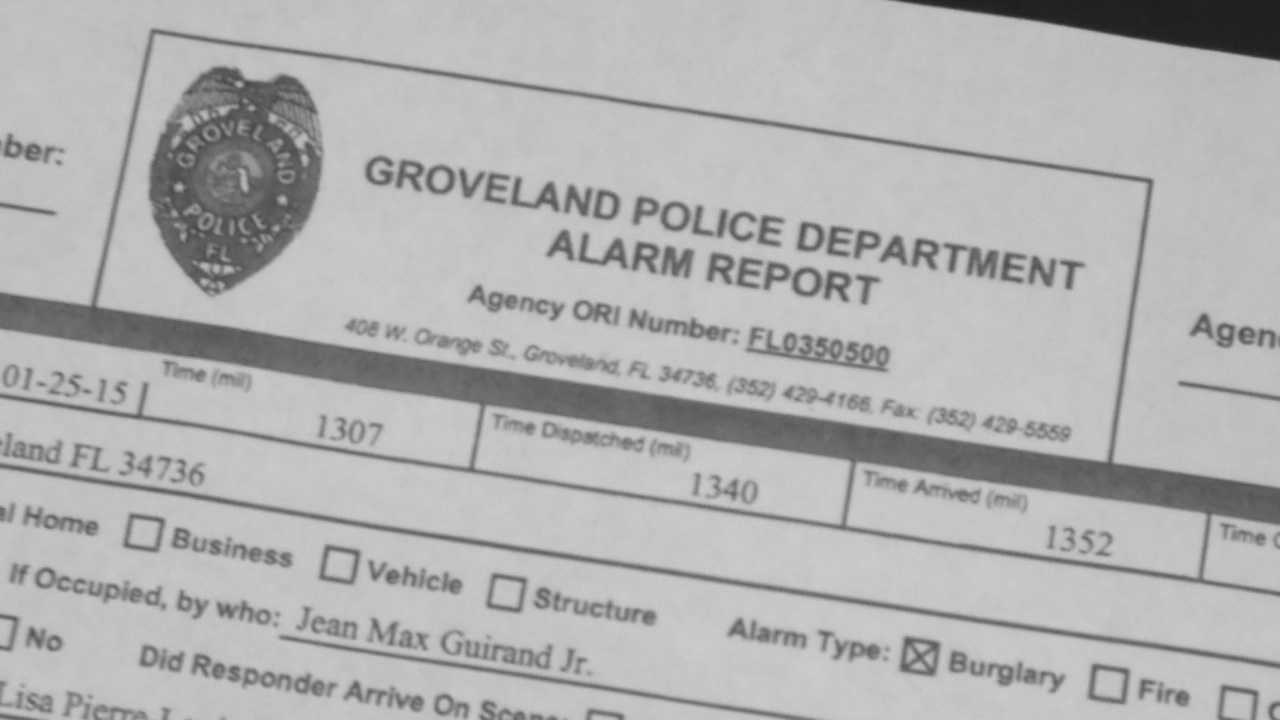 Two Groveland police officers are under investigation after a father alleges the officers used excessive force when they came into his home.