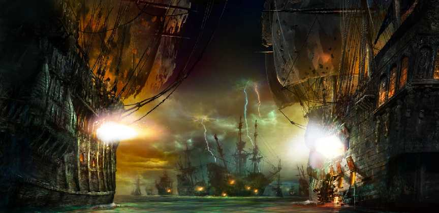 "Disney released creative images of the Disney Resort in Shanghai, which will feature the first-ever pirates themed land treasure cove, called ""Pirates of the Caribbean: Battle of the Sunken Treasure."" The resort will also feature a 420-room hotel, according to Disney officials. It is slated to open in Spring 2016."