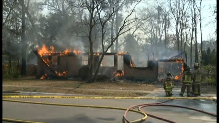 The Orange Park Fire Department set fire to a Florida home where a 7-year-old girl was killed in 2009.