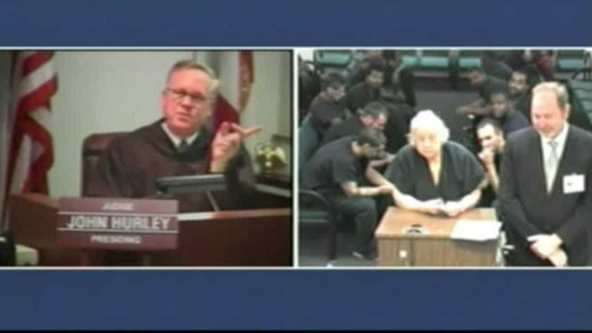 """So far, how am I doing?"" Broward County Judge John Hurley asked. ""Not bad, but you could do better,"" Dolores Sheinis quipped. The feisty 85-year-old inmate argued that in no way did she violate a protective order."