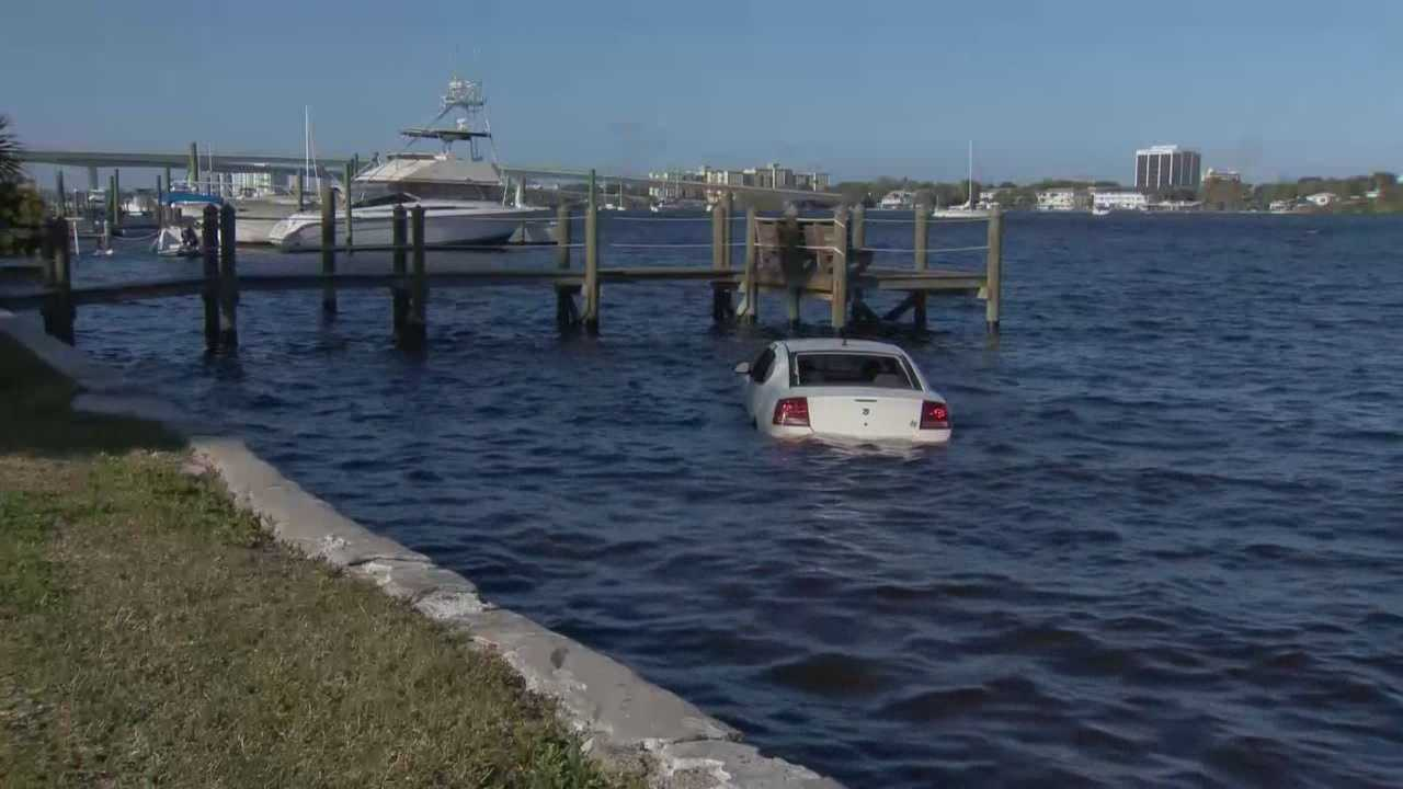Daytona Beach police are investigating a car crash after a vehicle went into the Halifax River on Friday afternoon.