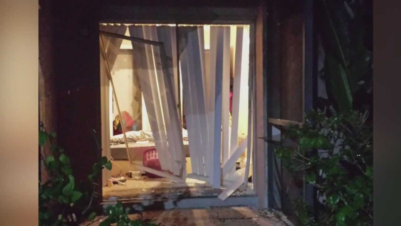 Police in Seminole County are looking for a hit-and-run driver who smashed through a couple's screened porch and into their bedroom.
