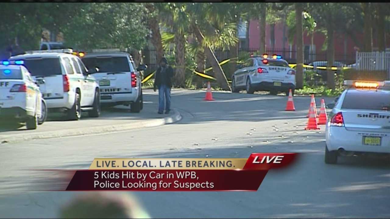 Five children are injured in a crash in West Palm Beach.