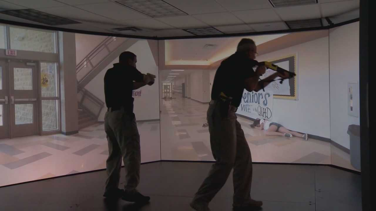 Local Sheriff's Office deputies test the latest technology available for law enforcement training.