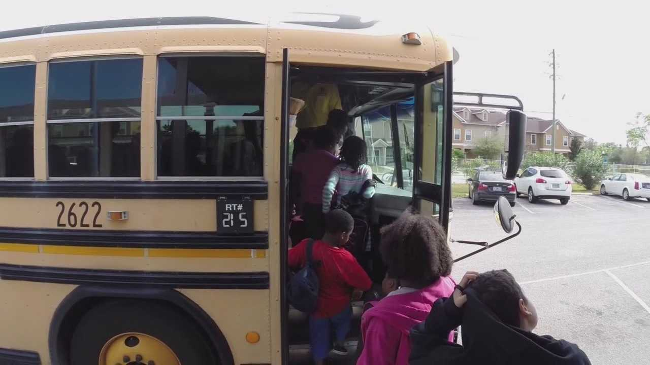 Volusia County students are swiping a card or typing in a date of birth before boarding their buses before or after school as an extra security measure.